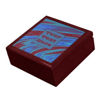 Modern Blue Red Color Swish Gift Box