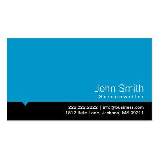 Modern Blue Screenwriter Business Card