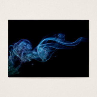 Modern Blue Smoke Business Card