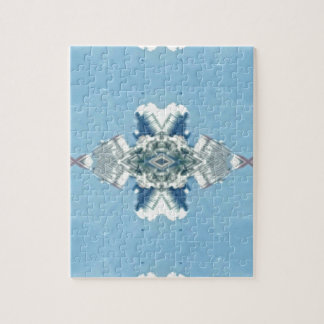 Modern Blue Soft Design Jigsaw Puzzle