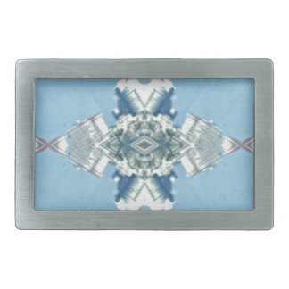Modern Blue Soft Design Rectangular Belt Buckle