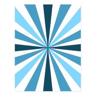 Modern Blue Stripes Postcard