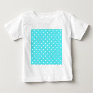 Modern Blue Swiss Polka Dot Baby T-Shirt