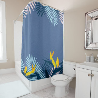 Modern Blue Tropical Paradise