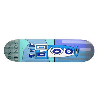Modern blue vase skateboard
