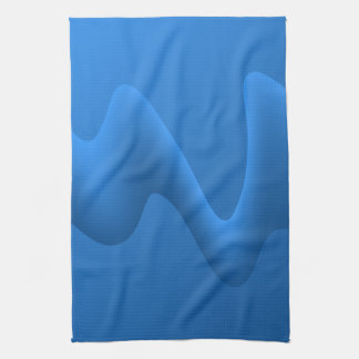 Modern Blue Wave Abstract Design. Kitchen Towel