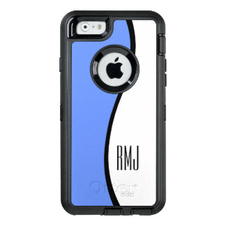 Modern Blue Wave Personalized Monogram OtterBox iPhone 6/6s Case