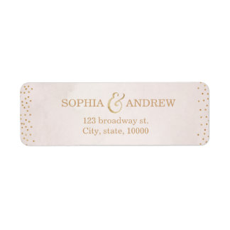 Modern blush faux glitter rose gold return address return address label