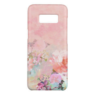 Modern blush watercolor ombre floral watercolor Case-Mate samsung galaxy s8 case
