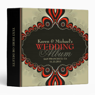 Modern Bohemian Wedding Album Binder