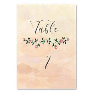 Modern boho  watercolor blooming roses wedding card