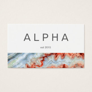 Modern Bold AbstractPainted Element Design Business Card