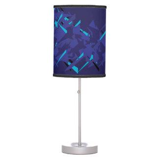 Modern Bold Blue Patterned Lamp