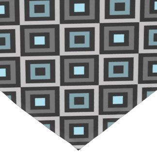 Modern Bold Diamond Pattern (Gray/Blue) Short Table Runner