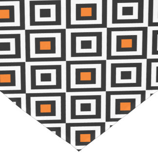 Modern Bold Diamond Pattern (Orange) Short Table Runner