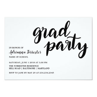 Modern Bold Grad Party Typography Stripes Pattern Card