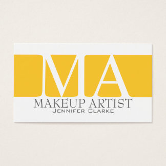 Modern Bold Makeup Artist Business Cards