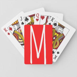 Modern Bold Monogram Playing Cards
