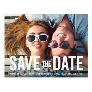 Modern Bold | Photo Save the Date Postcard