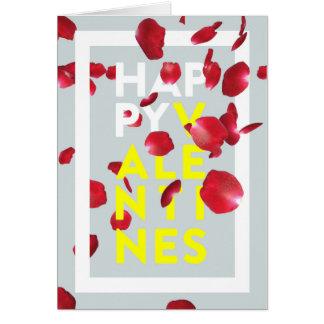 Modern Bold Rose Petals Valentine's Day Card