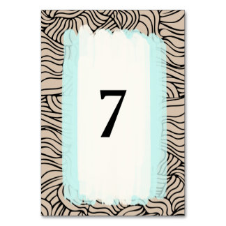 Modern bold table card