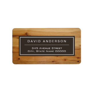 Modern Bold Wood Grain Stylish Look Label