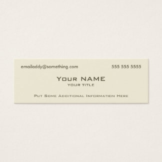 Modern Bone Mini Business Card