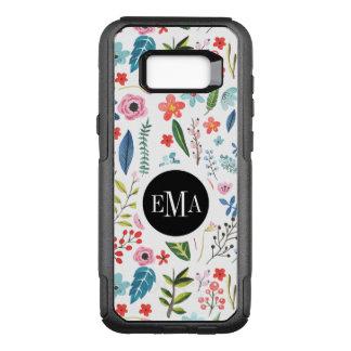 Modern Botanical Flowers & Leafs Pattern OtterBox Commuter Samsung Galaxy S8+ Case