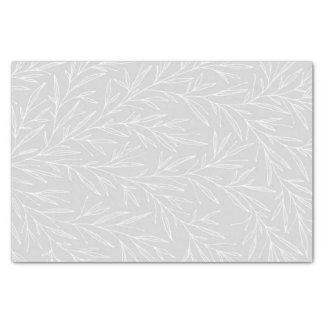 Modern Botanical Leaf Silver Wedding Tissue Paper