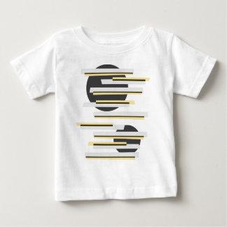 Modern boxes and circles abstract pattern baby T-Shirt