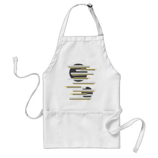 Modern boxes and circles abstract pattern standard apron