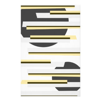 Modern boxes and circles abstract pattern stationery
