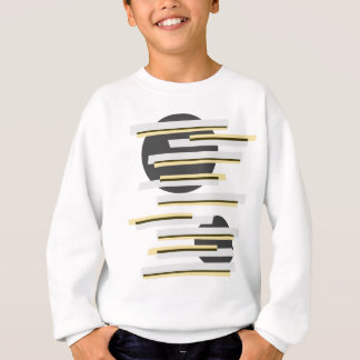 Modern boxes and circles abstract pattern sweatshirt