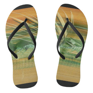 MODERN BRAZIL SANDAL WITH ART IN 3D