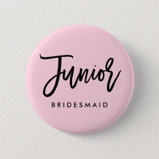 Modern Bridal Party Junior Bridesmaid 2 Inch Round Button