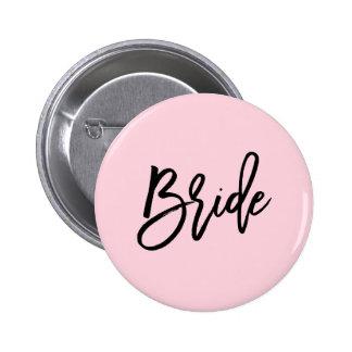 Modern Bridal Party Wedding 2 Inch Round Button