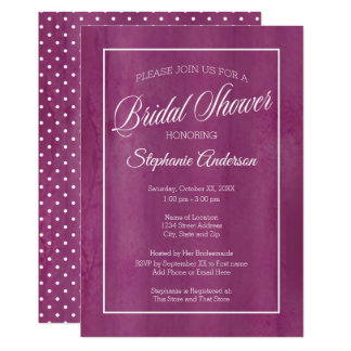 Modern Bridal Shower - Ultra Violet Watercolor Card