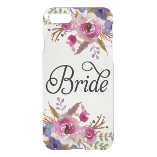Modern Bride Vintage Floral Uncommon iPhone 7 Case