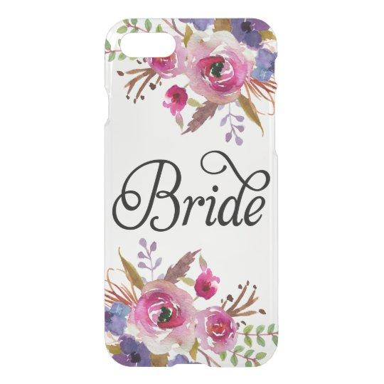 Modern Bride Vintage Floral Uncommon iPhone 7 Case