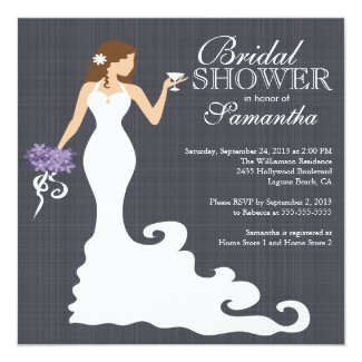 Modern Bride Wine Bridal Shower Invitations