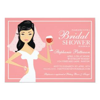 Bridal shower wine theme invites 179 bridal shower wine for Modern bridal shower invitations
