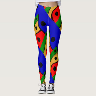 Modern bright Abstract shapes Leggings