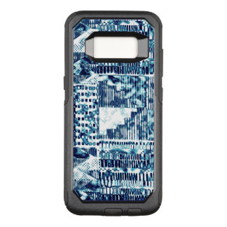 Modern Bright Blue Bold Boshi Shibori Block OtterBox Commuter Samsung Galaxy S8 Case