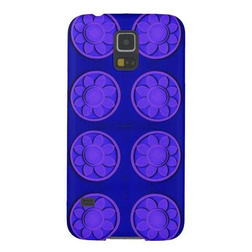 Modern bright blue flowers galaxy nexus covers