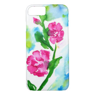 Modern bright case with water colors
