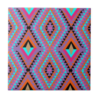Modern Bright Colorful Geometric Patterned Tile