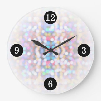 Modern Bright Colorful Lights Clock