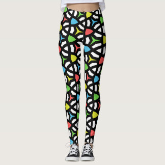 Modern Bright Geometrical Pattern in contemporary Leggings