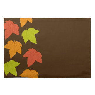 Modern Bright Leaves Brown Placemat