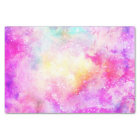 Modern bright pastel nebula watercolor tissue paper